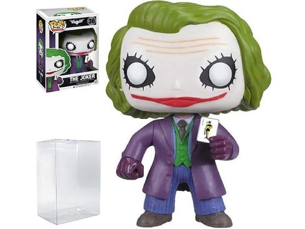 Funko POP! Heroes: DC Comics Batman: The Dark Knight Movie - The Joker #36 Vinyl Figure (Bundled with Pop Box Protector - Product Image