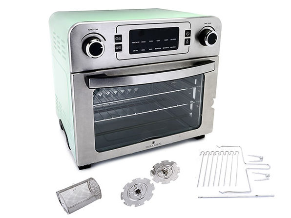 Paula Deen 24QT Air Fryer Oven w Rapid Air Circulation & Rotisserie Mint - Product Image