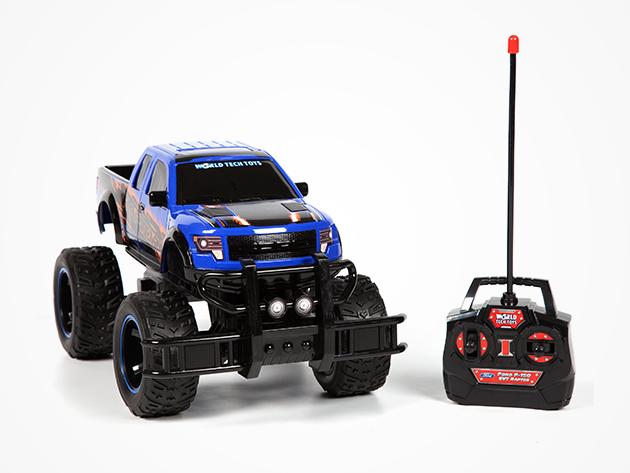 ford f 150 svt raptor rc monster truck blue stacksocial. Black Bedroom Furniture Sets. Home Design Ideas