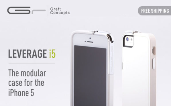 Leverage for iPhone 5 (White/Chrome) - Product Image