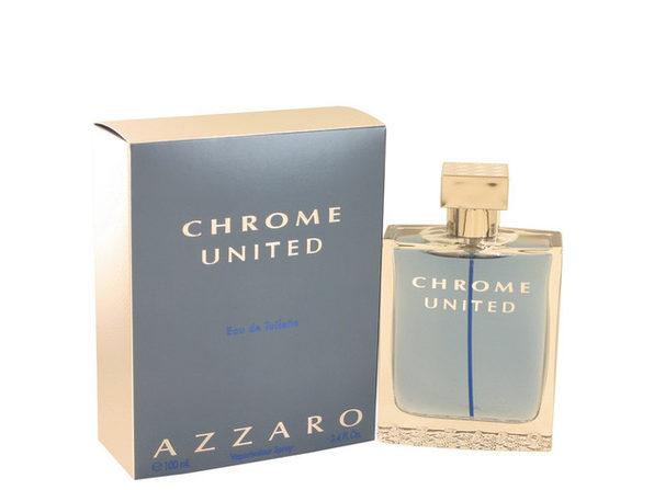 3 Pack Chrome United by Azzaro Eau De Toilette Spray 3.4 oz for Men