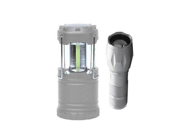 Bell + Howell Taclight Flashlight & Lantern Bundle (Silver)
