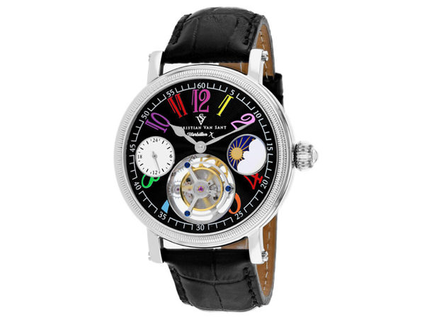 Christian Van Sant Men's Tourbillon X Limited Edition Black Dial Watch - CV0990