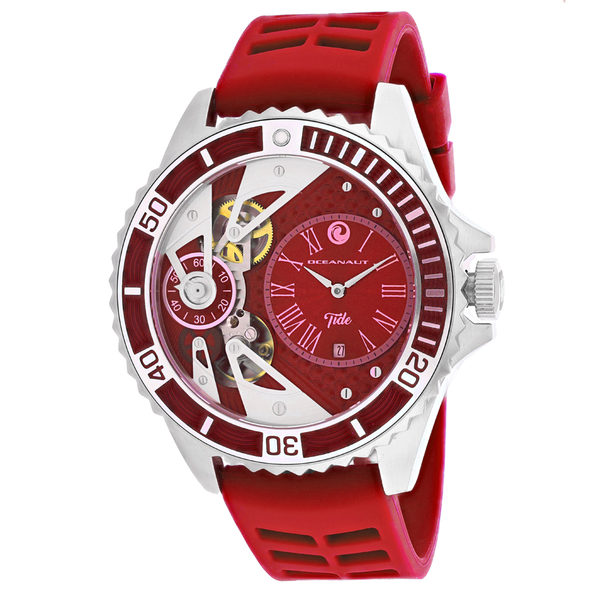 Oceanaut Men's Tide Red Dial Watch - OC0993