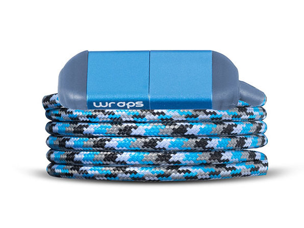 WRAPS Wearable Charge & Sync Cable (USB-C, Marine Blue)