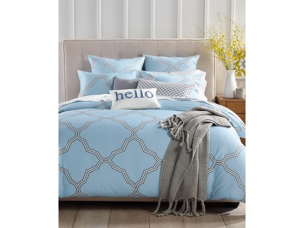 Charter Club Damask Designs Tile Geo 300 Thread Count 2 Piece Bedding Comforter Set Size Twin Blue Stacksocial