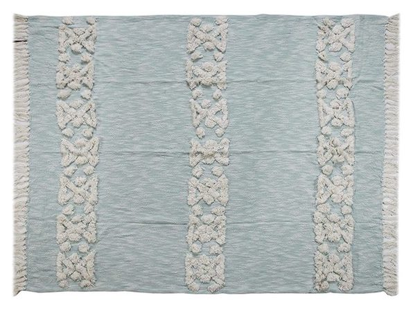 "LR Resources THROW80141SBL4250 Soft Decorative Throw Blanket,60""x50"" - Sky Blue"