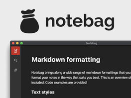 Notebag: Keyboard-Compatible Note Taking App