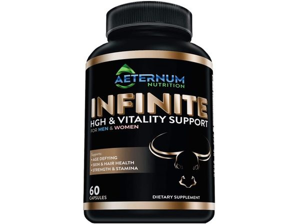 Aeternum Nutrition Infinite High & Vitality Support - Includes Argnine and Glutamine - Supports Strength, Stamina, Skin and Hair Health, Muscle Growth, 60 Capsules Dietary Supplement
