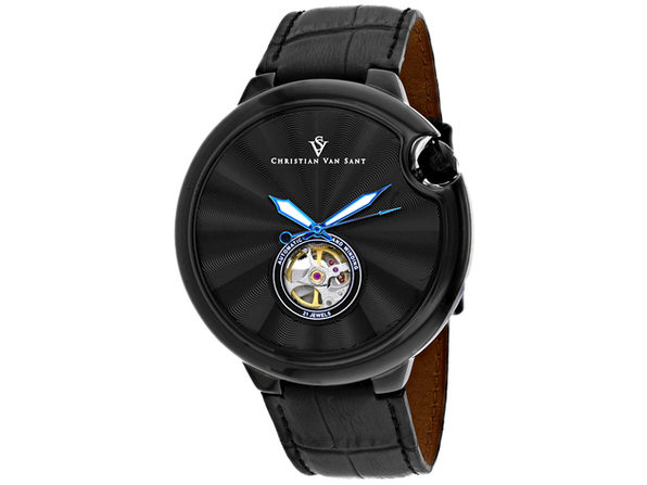 Christian Van Sant Men's Cyclone Automatic Black Dial Watch - CV0145