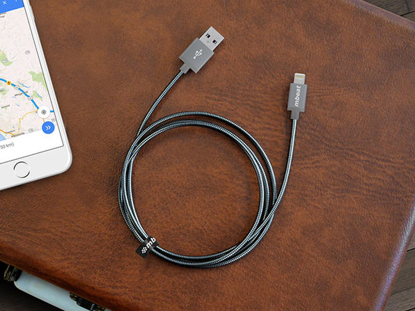 Toughlink MFi-Certified Metal Braided Lightning Cable: 2-Pack