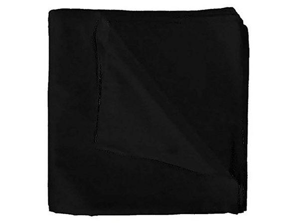 Qraftsy Solid Cotton Anti-Shredding Bandanas - Bulk Wholesale - 45 Pack - Black