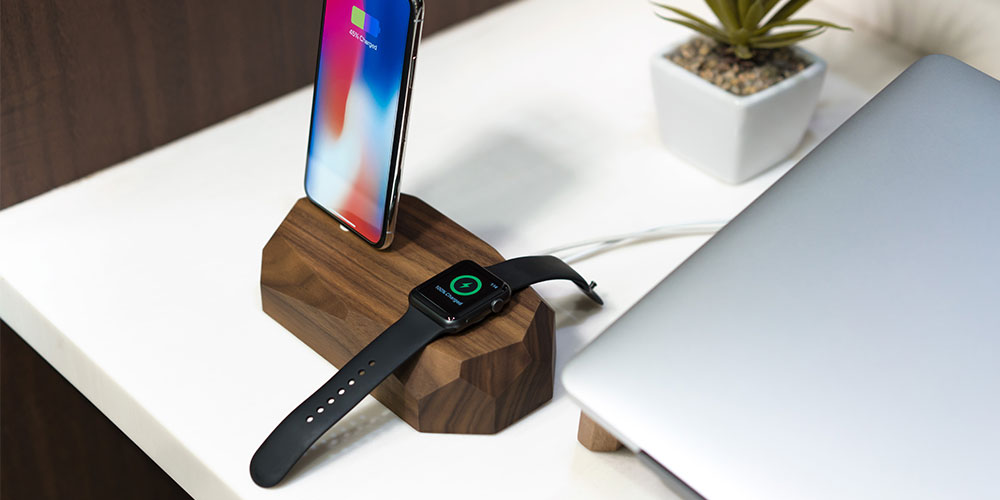 Oakwood iPhone and Apple Watch Charging Dock, on sale for $59.99 (24% off)