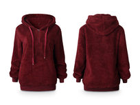 Plush Pullover Hoodie, Large - Product Image