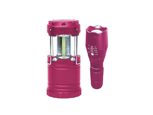 Bell + Howell Taclight Flashlight & Lantern Bundle (Pink)