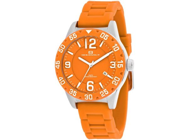 Oceanaut Women's Aqua One Orange Dial Watch - OC2814