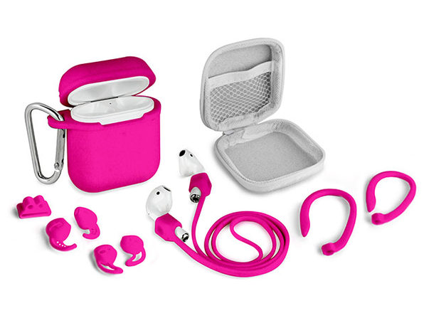 Aduro AirPods 8-Piece Accessory Bundle (Pink)