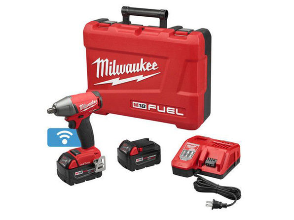 MILWAUKEE 2759B-22 M18 Fuel 1/2 In. Compact Impact Wrench w/ Ring Kit - Product Image