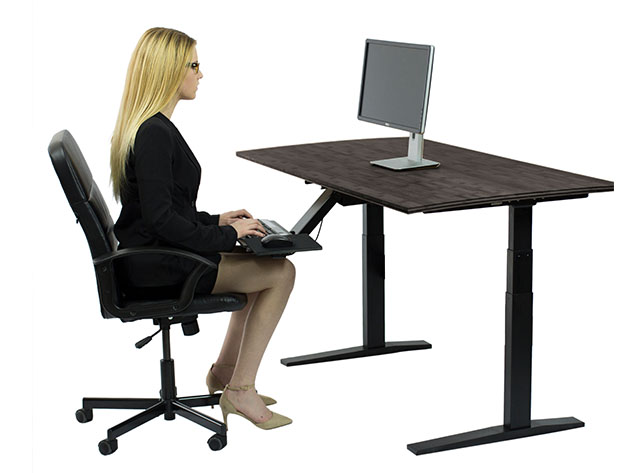 A person sitting at a desk.