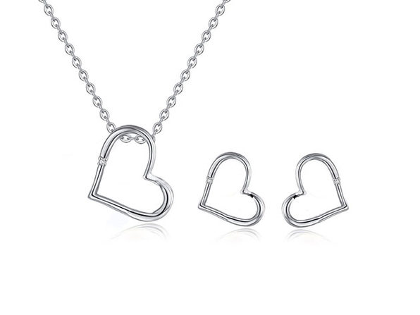 Diamond Pendant & Earring Set - Product Image