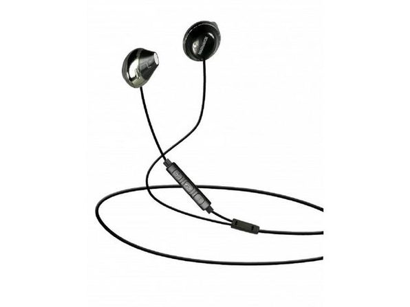 Magnavox MHP4858-BK In-Ear Earbuds with Microphone and Remote Control, Enjoy Your Favorite on-the-go Tunes, Black (New Open Box) - Product Image