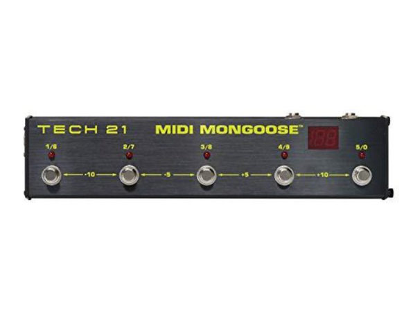 Tech 21 MIDI Mongoose Battery Powered 5 Button MIDI Foot Controller- LED Display (New, Damaged Retail Box)