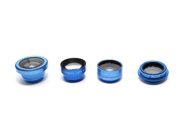 Clip & Snap Smartphone Camera Lenses: 5-Pack (Blue) - Product Image