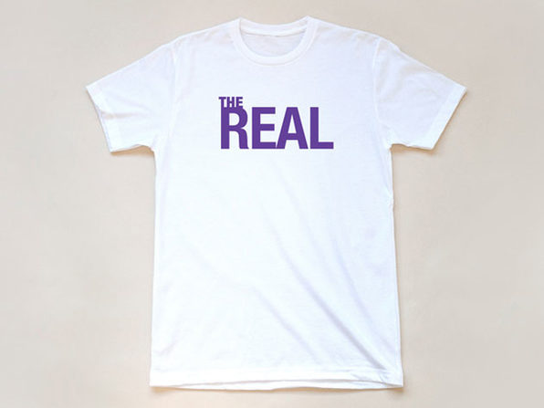 The Real Logo White T-Shirt-L - Product Image