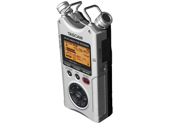 Tascam dr 40 Recording Portable Digital 4-Track Recorder - Silver