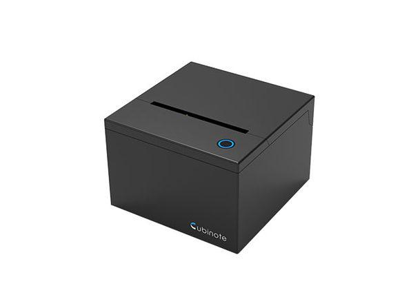 Cubinote Pro Sticky Note Printer (Black) + 3 Paper Rolls (Tri-Color)