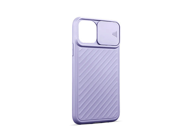 iPhone 12 Pro Max Case with Camera Cover Purple - Product Image