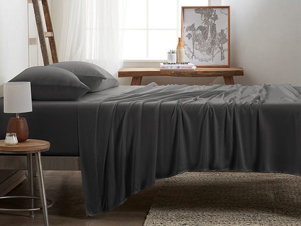 4-Piece Luxury 100% Rayon Bamboo Sheet Set // Gray (Queen)