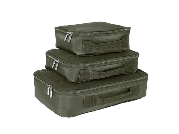 Genius Pack Compression Packing Cubes Set (Titanium)
