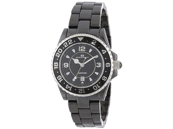 Oceanaut Women's Ceramic Black Dial Watch - CN1C2601