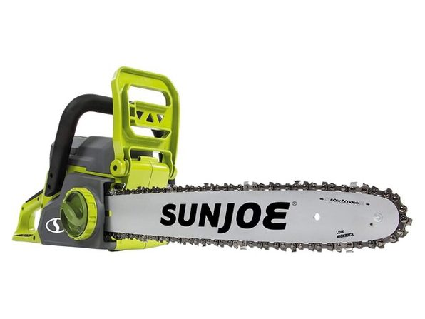 Sun Joe ION16CSCT iON16CS-CT 40-Volt Cordless 16-Inch Chain Saw w/Brushless Moto (Used, Damaged Retail Box)