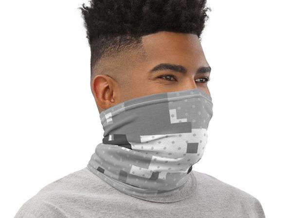 Reusable Cool Face Cover / Neck Gaiter (Pixelated Camo)