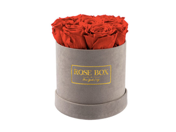 Small Gray Boxes with Red Roses - Product Image