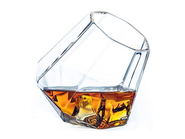 Diamond Whiskey Glasses: Set of 4