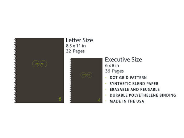 Rocketbook Everlast Reusable Smart Notebook Letter