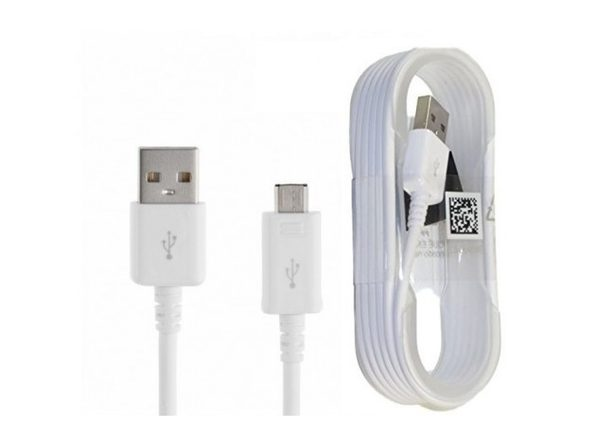 Samsung Micro USB Charge & Sync Cable, 5 feet, Non-Retail Packaging 1-Pack White