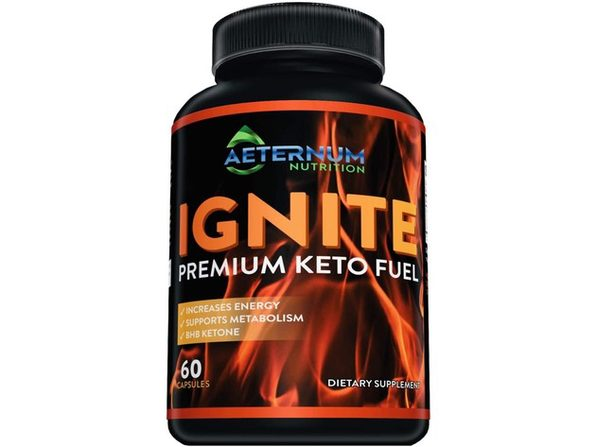Aeternum Nutrition Ignite Premium Keto Fuel - Helps Increase Energy and Supports Metabolism, NON-GMO, 60 Capsules Dietary Supplement