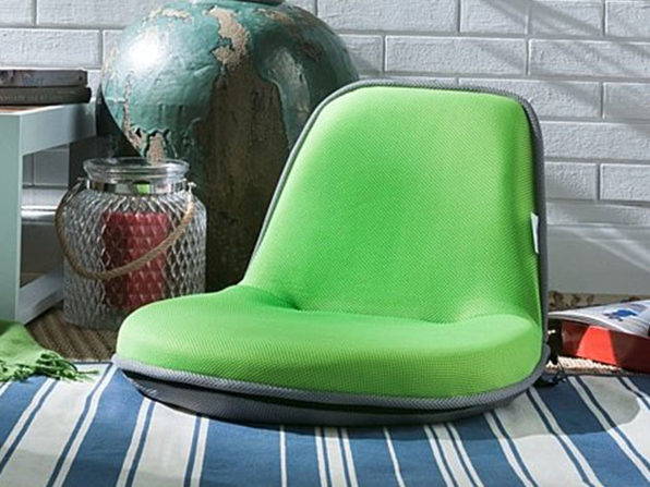 Loungie Quickchair Mesh Floor Chair  - lime/grey - Product Image