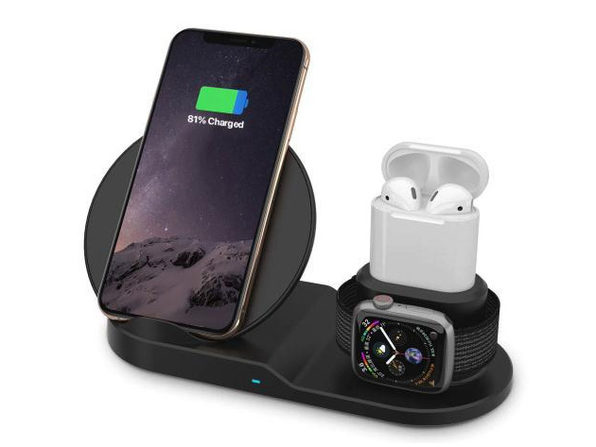 AirDock 3-in-1 Wireless Charging Station (White)