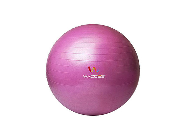 Wacces Anti-Burst Yoga Ball with Pump (Pink)