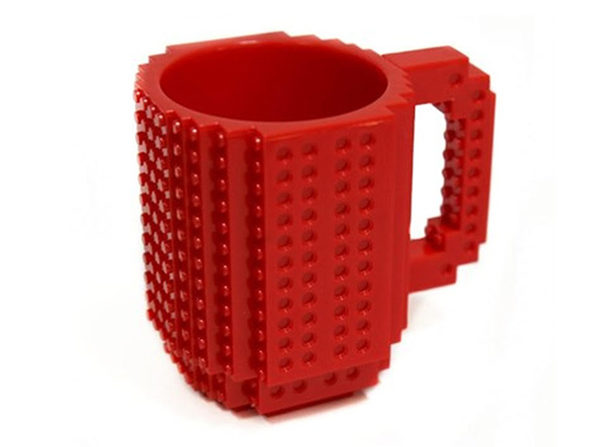 Build-On Brick Mug (Red)