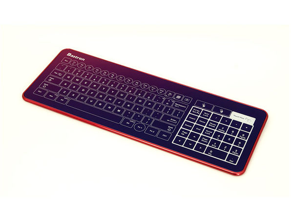 B10 Wired Glass Touch Keyboard (Red)