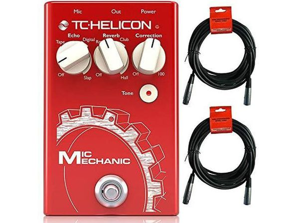 TC-Helicon Mic Mechanic 2 Reverb Delay Pitch Correction Vocal Effects Pedal (Used, Open Retail Box) - Product Image