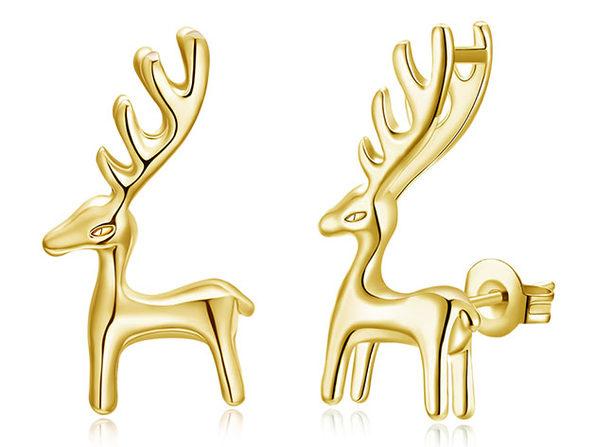 Reindeer Classic Gold Plated Stud Earrings