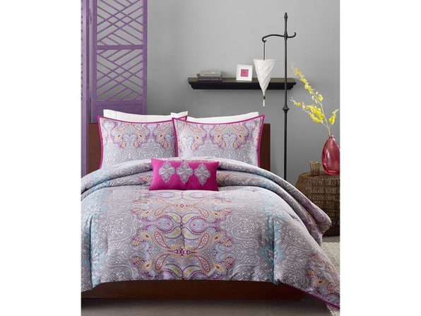 Mi Zone Keisha 4-Pc. Full/Queen Comforter Set Fuchsia