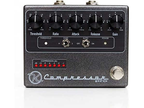 Keeley Compressor KCPro LED Indicator Auto Mode Dependent EQ Effects Pedal (Like New, Damaged Retail Box) - Product Image